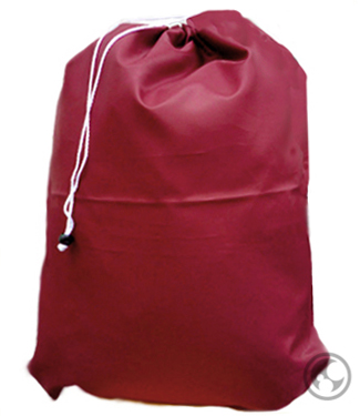 Small Nylon Laundry Bag, Burgundy