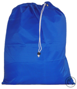 Small Nylon Laundry Bag, Royal Blue
