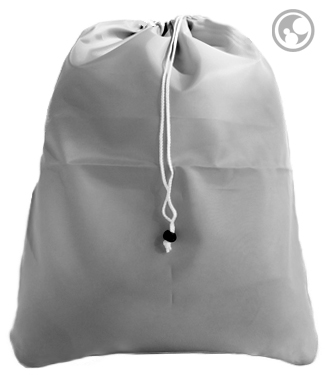 Nylon Laundry Bag, Silver