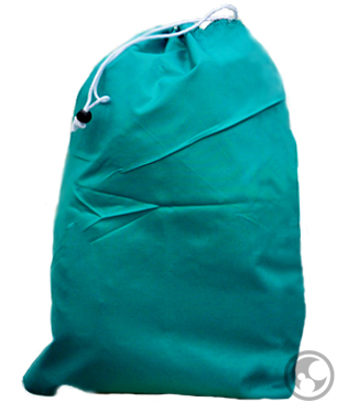 Small Nylon Laundry Bags, Teal