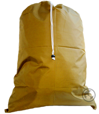 Large Nylon Laundry Bag, Gold