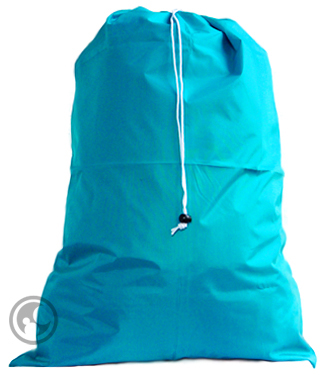 Large Nylon Laundry Bag, Teal