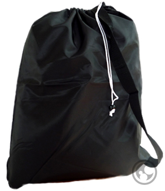 Large Black Laundry Bags with Carry Strap