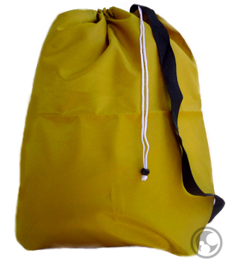 Nylon Gold Laundry Bags with Side Strap, Small Sized