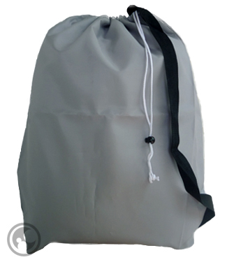 Large Laundry Bags with Carry Strap, Silver