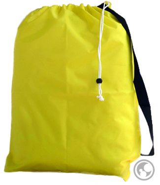 Small Nylon Counter Laundry Bag with Strap, Yellow
