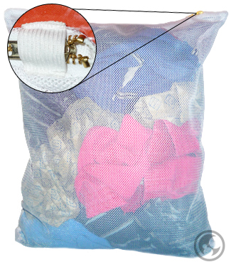 small zipper mesh laundry bag